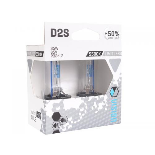 Żarnik D2S 5500 K Vision Limitless white kpl 2szt.