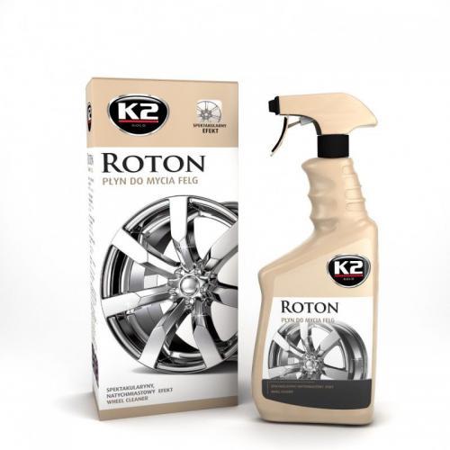 K2 ROTON Płyn do mycia felg kół wydajny, KRWAWI !