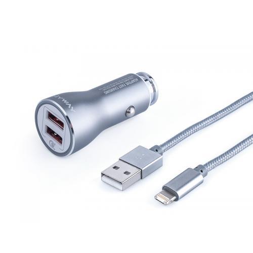 Ładowarka MyWay 12/24 2 USB QC kabel USB lightning
