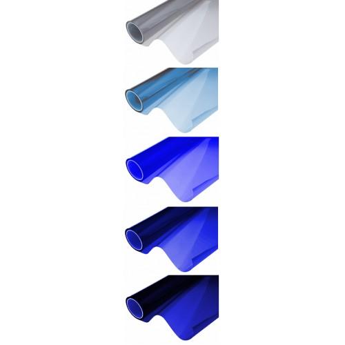 Folia pasek na przednią szybę cieniowany Niebieski
