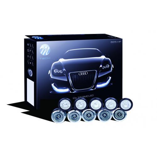 Lampy dzienne oczka M-tech 825 srebrne Hella Style