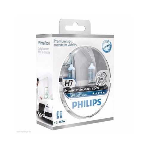 Żarówka H7 12V 55W Philips White Vision kpl