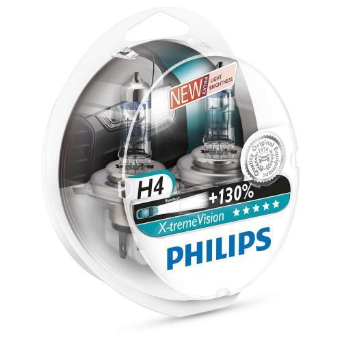Żarówka H4 P43t Philips X-Treme Vision +130% kpl