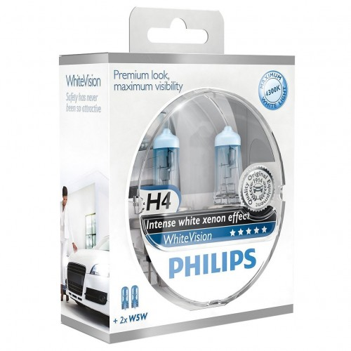 Żarówka H4 P43t Philips White Vision kpl