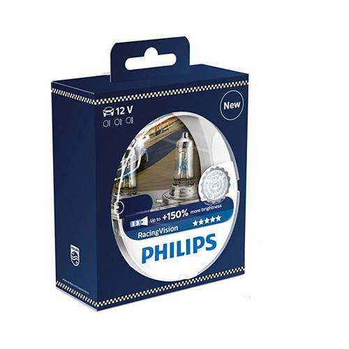 Żarówka H4 P43t Philips Racing Vision+150% kpl