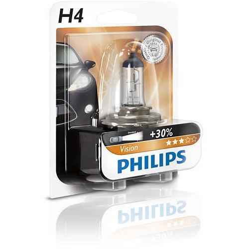 Żarówka H4 12V 60/55W Philips Vision +30%