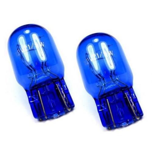 Żarówka W21/5W T20 Farenheit niebieska 2szt. kpl