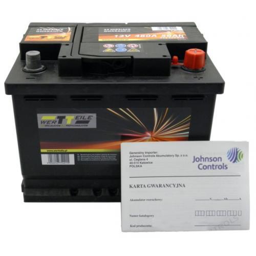 Akumulator 40Ah 340A P+ WERTTEILE Panda 500 Punto