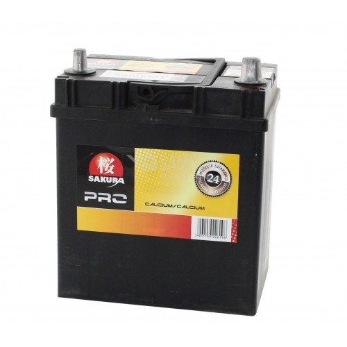 Akumulator 35Ah 300A P+ SAKURA PRO cienkie klemy