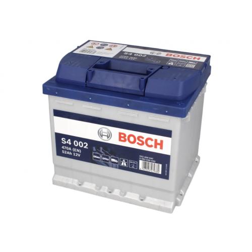 Akumulator 52Ah 470A P+ Bosch S4 207x175x190 mm