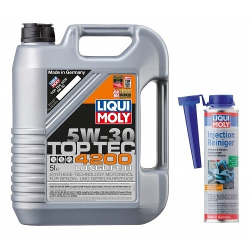 Olej 5W30 Liqui Moly TOP TEC 5L+Injection Reiniger