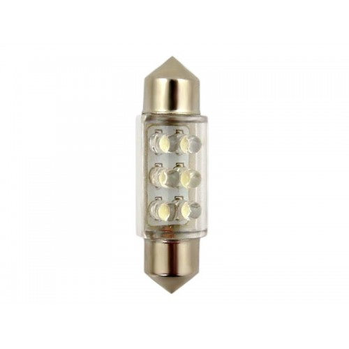 ŻARÓWKA C5W 36mm 6 LED WH Vision kpl 2szt 17048