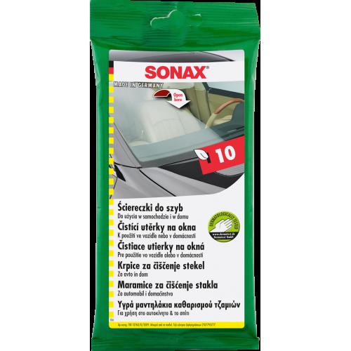 SONAX Ściereczki wilgotne do czyszczenia szyb x 10
