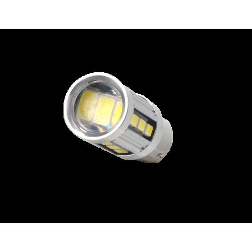 Żarówka Ba15s 18 SMD 5730 Can 12V biała