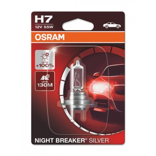 Żarówka H7 PX26d Osram Night Breaker silver+100