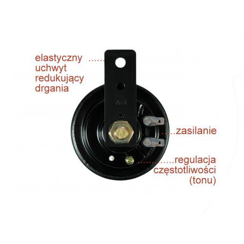 Klakson sygnał dżwiękowy 105 dB 440 HZ Uniwersalny