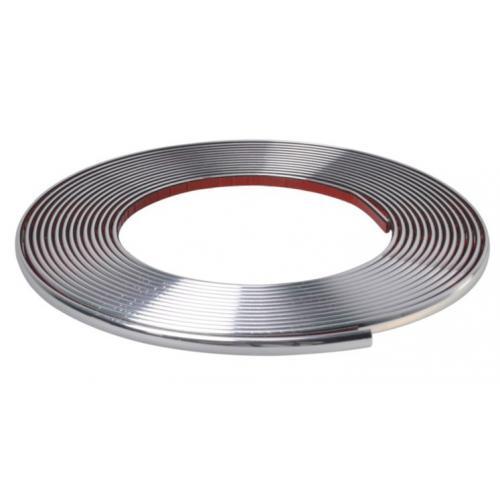 Listwa ozdobna 9mm srebrna chrom chromowana