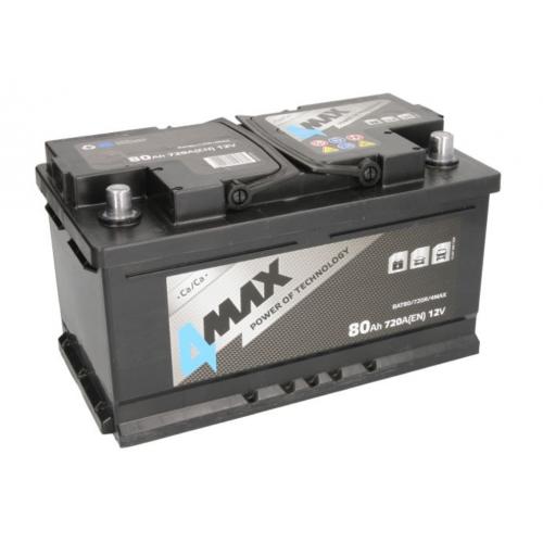 Akumulator 80Ah 720A P+ 4MAX 315x175x175mm