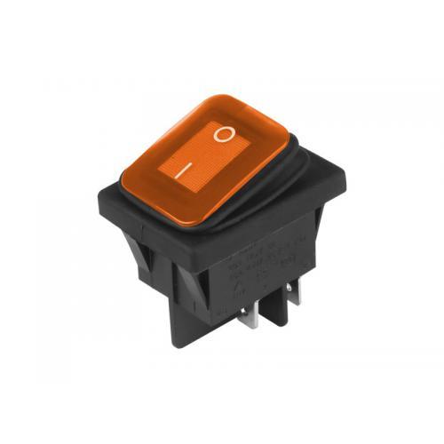 Przełącznik elektryczny 12/24V 125-250V Pomarańcz.