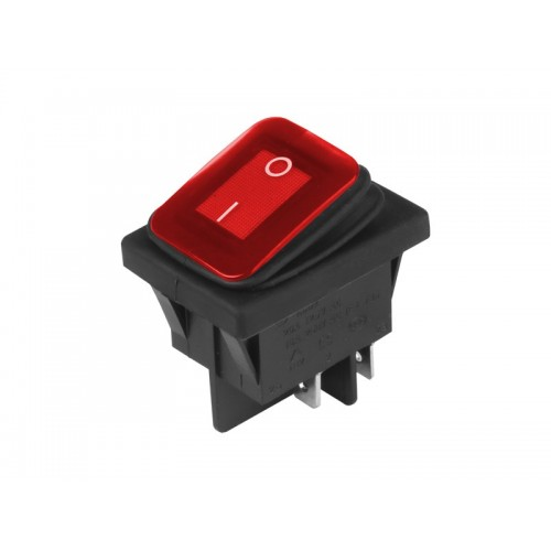 Przełącznik elektryczny 12/24V 125/250V Czerwony