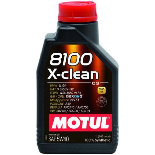 OLEJ 5W40 MOTUL 8100 X-CLEAN 1L