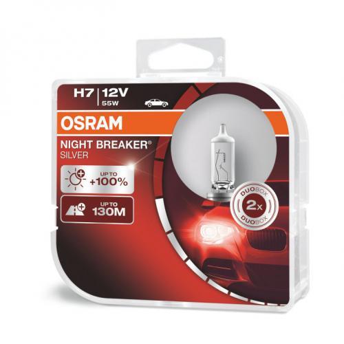 Żarówka H7 PX26d Osram Night Breaker silver+100%