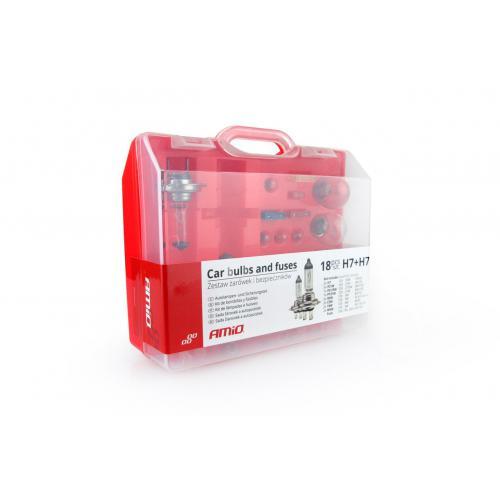 Zestaw żarówek H7 x2, pomocnicze, bezpieczniki