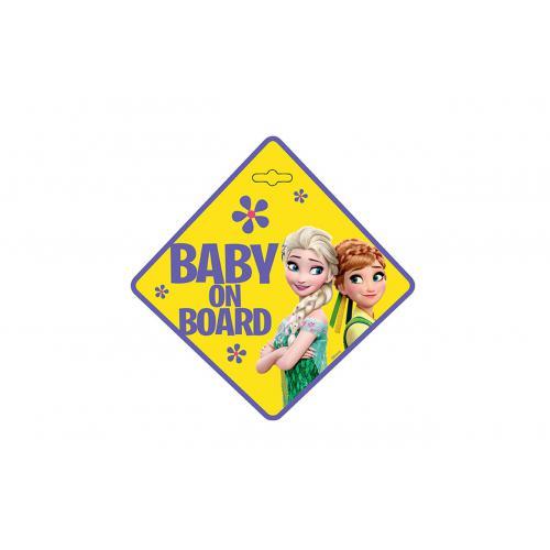 Tabliczka na szybę Baby on Board FROZEN zawieszana