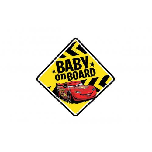 Tabliczka na szybę BABY ON BOARD CARS zawieszana