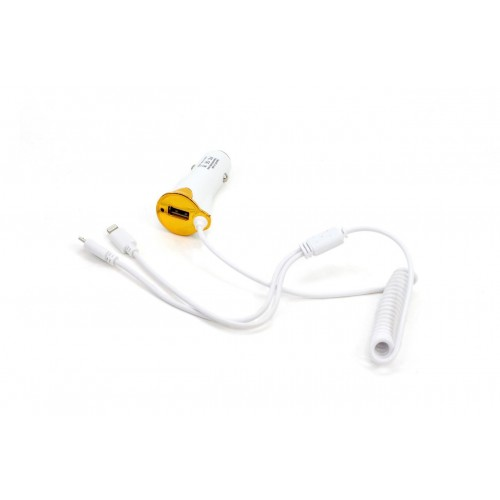 Ładowarka 12/24V USB, microUSB, iPhone lighting