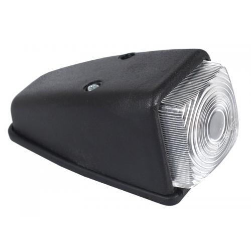 Lampa obrysowa narożna, obrysówka biały klosz R5W