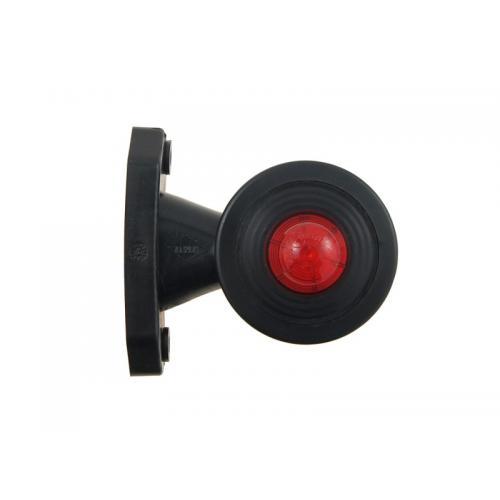 Lampa obrysowa LED boczna biało czerwona 12/24V
