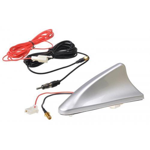 Antena dachowa srebrna AM/FM REKIN ze wzmacniaczem