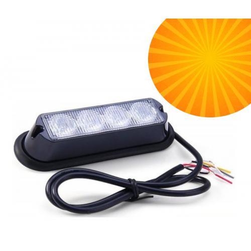 Lampa ostrzegawcza stroboskopowa pomarańczowa 4x3W