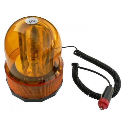 Lampa ostrzegawcza kogut amber ba15s 24V