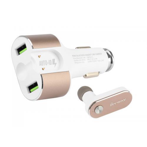Ładowarka + Słuchawka Bluetooth MyWay 2xUSB 4.2A
