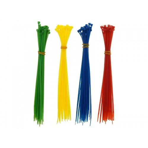 Opaski kablowe 200x2,5 120szt 4kolory Trytki nylon