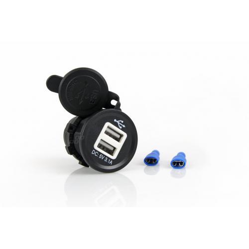 Ładowarka 12/24V 2x USB 3.1A wpuszczana w otwór