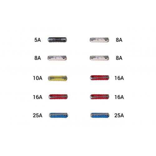 Bezpieczniki cylindryczne zestaw 10szt. FG