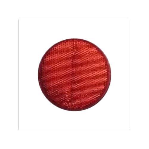 Odblask okrągły czerwony ze śrubą śr. 78mm