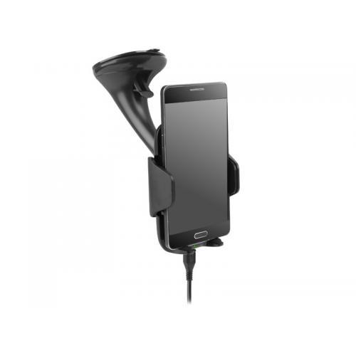 Uchwyt telefonu przyssawka ładowanie bezprzewodowe
