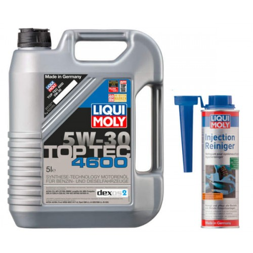 Olej 5W30 Liqui Moly 4600 TOP TEC 5L + Dod benz