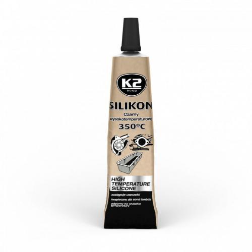 K2 Silikon wysokotemperaturowy Czarny +350°C 21g