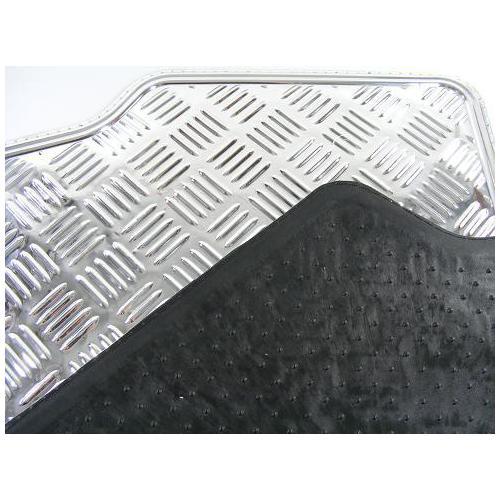 Dywaniki metalizowane Alu Blacha ryflowana Czarne