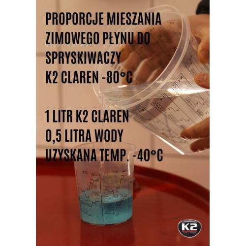 K2 CLAREN -80°C 1L Koncentrat płynu spryskiwaczy