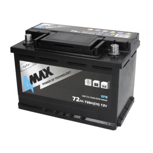 Akumulator 72Ah 720A P+ 4MAX EFB 278x175x190mm