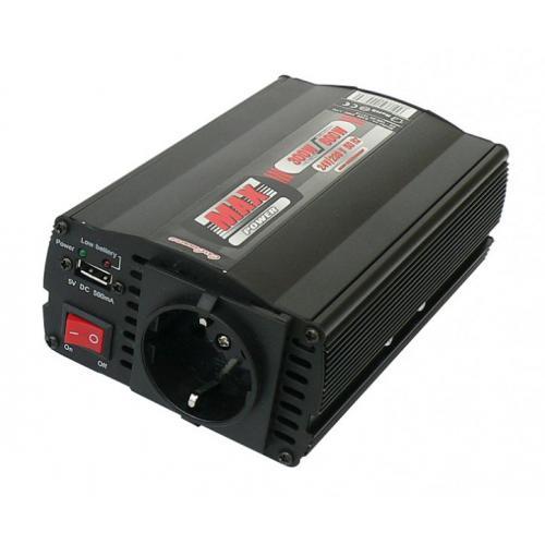 Przetwornica napięcia 24V na 230V 300/600W + USB