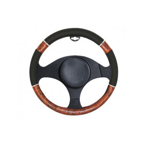 Pokrowiec kierownicy drewno i chrom ring 37-39