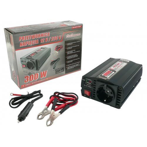 Przetwornica napięcia 12V na 230V 300/600W + USB