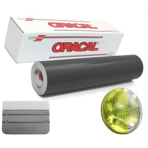 Folia żółta do przyciemniania lamp Oracal 2m+rakla